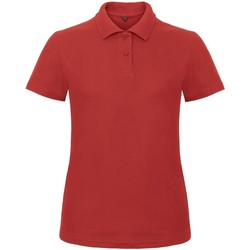 Textiel Dames Polo's korte mouwen B And C ID.001 Rood