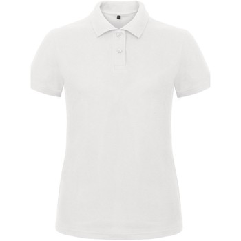 Textiel Dames Polo's korte mouwen B And C ID.001 Wit