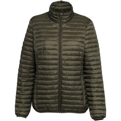 Textiel Dames Dons gevoerde jassen 2786 Fineline Olijf