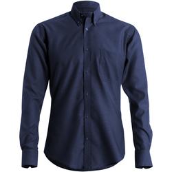 Textiel Heren Overhemden lange mouwen Kustom Kit KK184 Marine