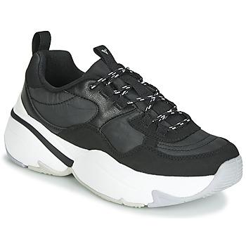 Schoenen Dames Lage sneakers Victoria AIRE NYLON/SERRAJE PU Zwart