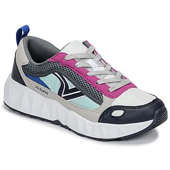 Schoenen Dames Lage sneakers Victoria ARISTA MULTICOLOR Wit / Roze