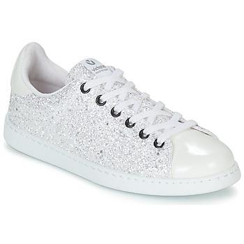 Schoenen Dames Lage sneakers Victoria TENIS GLITTER Wit
