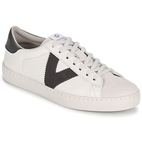 Schoenen Dames Lage sneakers Victoria BERLIN PIEL CONTRASTE Wit / Grijs