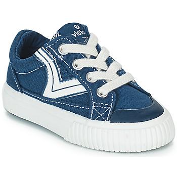 Schoenen Kinderen Lage sneakers Victoria TRIBU LONA RETRO Blauw