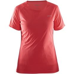 Textiel Dames T-shirts korte mouwen Craft Prime Rood