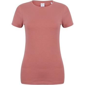 Textiel Dames T-shirts korte mouwen Skinni Fit Stretch Klei