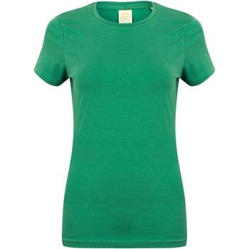 Textiel Dames T-shirts korte mouwen Skinni Fit Stretch Groen