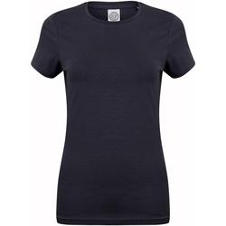 Textiel Dames T-shirts korte mouwen Skinni Fit Stretch Marine