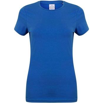 Textiel Dames T-shirts korte mouwen Skinni Fit Stretch Koninklijk