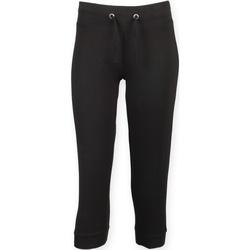 Textiel Dames Trainingsbroeken Skinni Fit Three Quarter Zwart