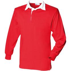 Textiel Kinderen Polo's lange mouwen Front Row FR109 Rood