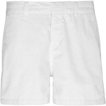 Textiel Dames Korte broeken / Bermuda's Asquith & Fox Classic Wit