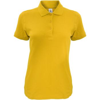 Textiel Dames Polo's korte mouwen B And C Safran Goud