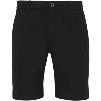 Textiel Heren Korte broeken / Bermuda's Asquith & Fox Chino Zwart