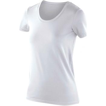 Textiel Dames T-shirts korte mouwen Spiro S280F Wit