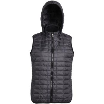 Textiel Dames Dons gevoerde jassen 2786 Hooded Zwart