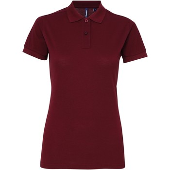 Textiel Dames Polo's korte mouwen Asquith & Fox Performance Bourgondië
