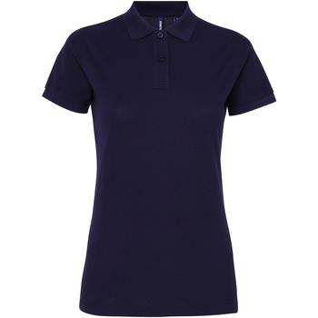 Textiel Dames Polo's korte mouwen Asquith & Fox Performance Marine
