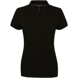 Textiel Dames Polo's korte mouwen Henbury HB102 Zwart