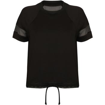 Textiel Dames T-shirts korte mouwen Tombo Athletic Zwart
