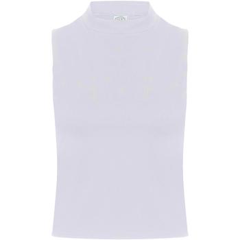 Textiel Dames Mouwloze tops Skinni Fit Crop Wit