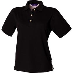 Textiel Dames Polo's korte mouwen Henbury HB121 Zwart
