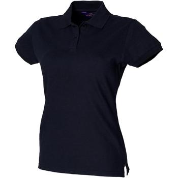 Textiel Dames Polo's korte mouwen Henbury Pique Marine