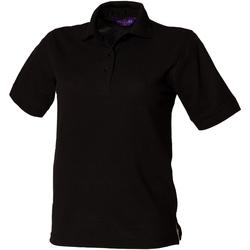 Textiel Dames Polo's korte mouwen Henbury HB401 Zwart