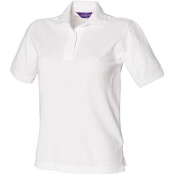 Textiel Dames Polo's korte mouwen Henbury HB401 Wit