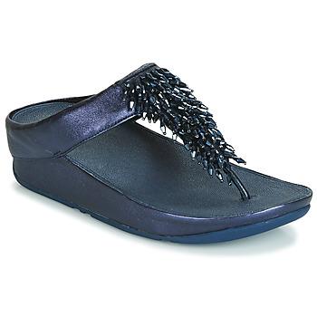 Schoenen Dames Slippers FitFlop RUMBA TOE THONG SANDALS Blauw