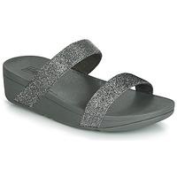 Schoenen Dames Leren slippers FitFlop LOTTIE GLITZY SLIDE Zilver