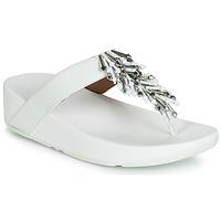 Schoenen Dames Slippers FitFlop JIVE TREASURE Wit