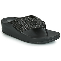 Schoenen Dames Slippers FitFlop TWISS CRYSTAL Zwart