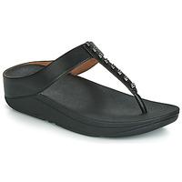 Schoenen Dames Slippers FitFlop FINO TREASURE Zwart