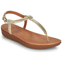 Schoenen Dames Slippers FitFlop TIA Goud