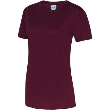 Textiel Dames T-shirts korte mouwen Just Cool JC005 Bourgondië