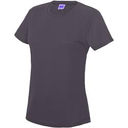 Textiel Dames T-shirts korte mouwen Just Cool JC005 Houtskool