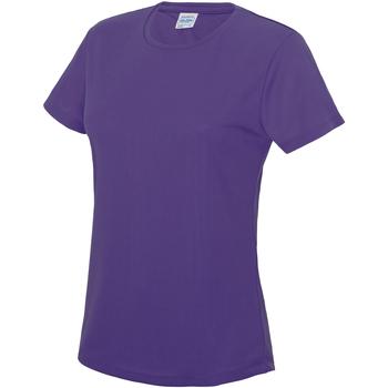 Textiel Dames T-shirts korte mouwen Just Cool JC005 Paars