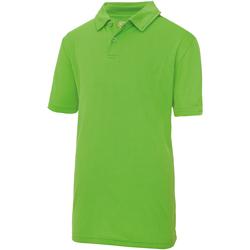 Textiel Kinderen Polo's korte mouwen Awdis JC40J Kalk