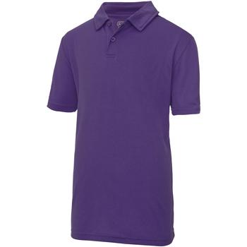 Textiel Kinderen Polo's korte mouwen Awdis JC40J Paars