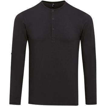 Textiel Heren T-shirts met lange mouwen Premier Long John Zwart