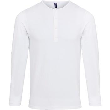 Textiel Heren T-shirts met lange mouwen Premier Long John Wit