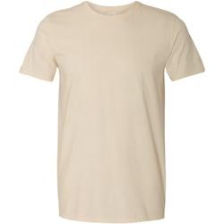 Textiel Heren T-shirts korte mouwen Gildan Soft-Style Natuurlijk