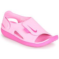 Schoenen Meisjes Sandalen / Open schoenen Nike SUNRAY ADJUST 5 Roze